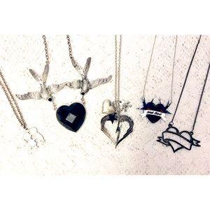 Bundle of silver necklaces